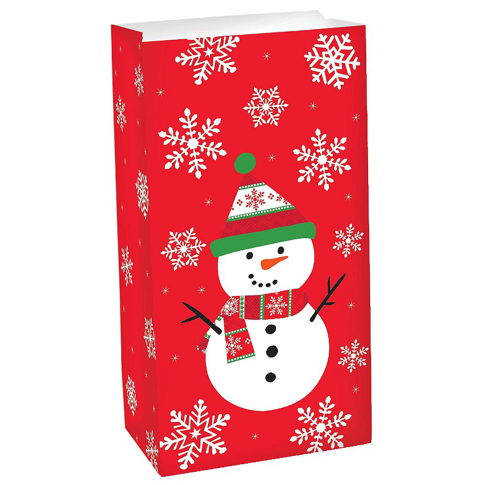 Snowman Paper Favor Bag Image #1