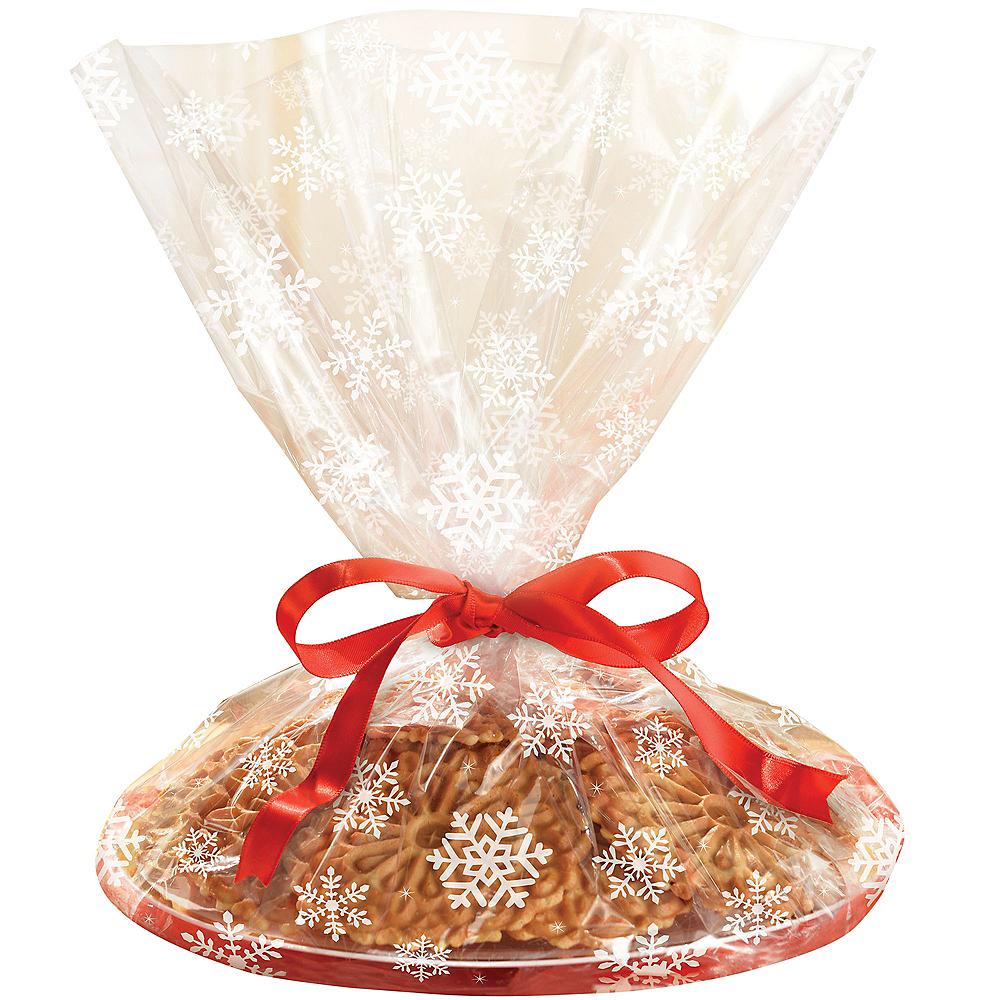 White Snowflake Tray Treat Bags 6ct Image #1