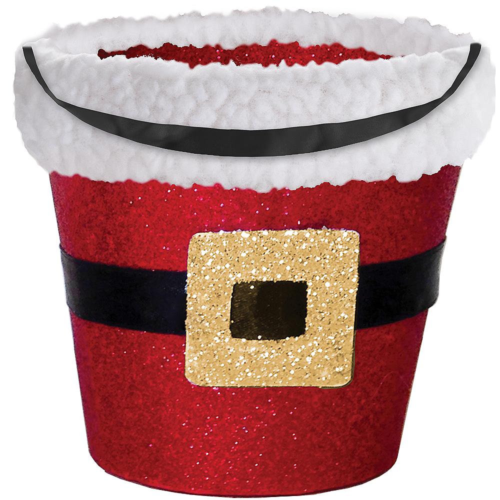 Glitter Santa Treat Bucket Image #1