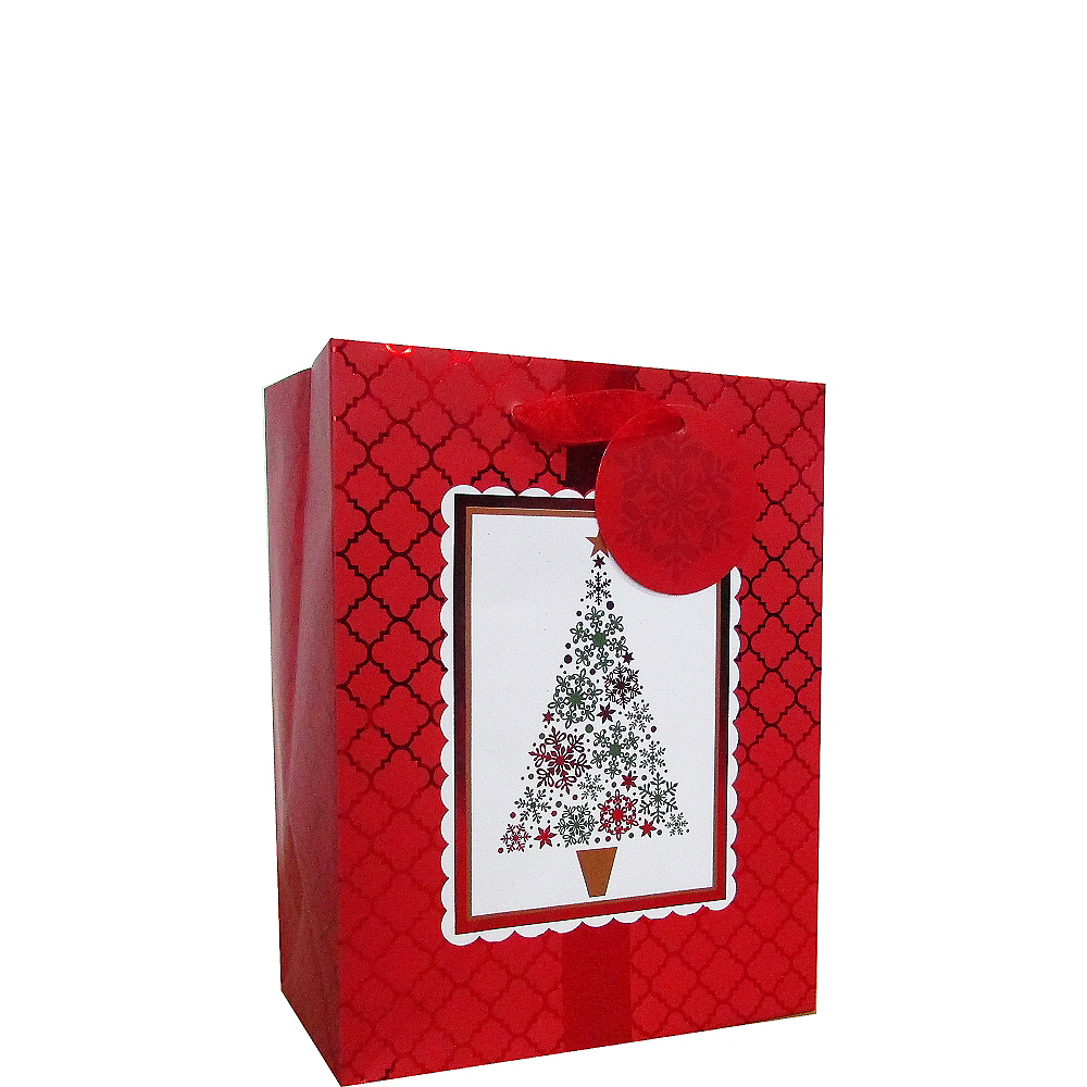 Red & White Holiday Gift Bag Image #1