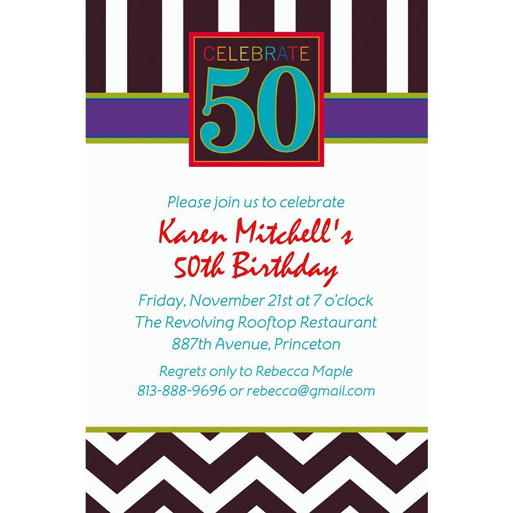 Custom 50th Celebration Invitations Image #1