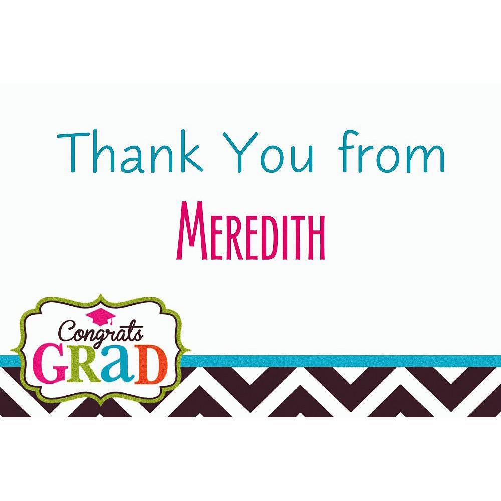 Custom Bright Congrats Grad Thank You Notes  Image #1