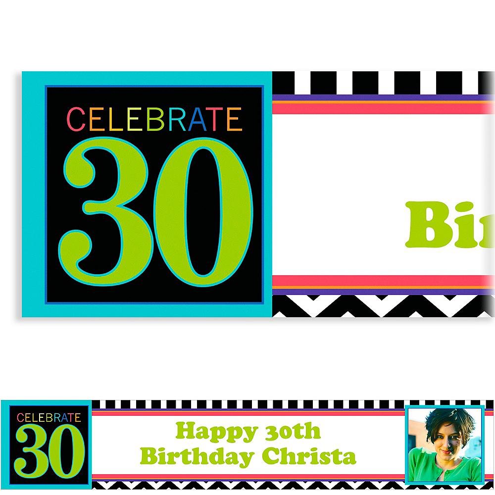 Custom 30th Celebration Photo Banner 6ft Image #1