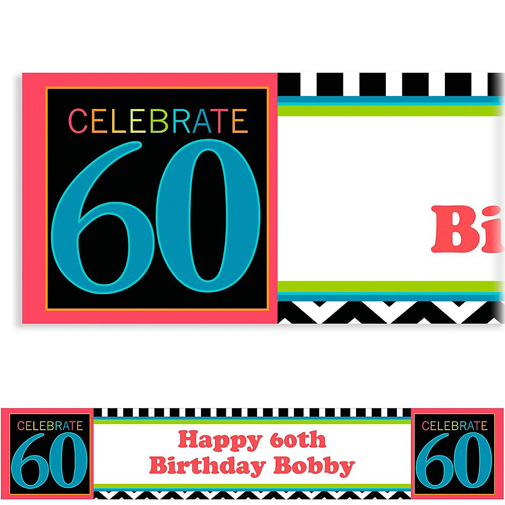 Custom 60th Celebration Banner 6ft Image #1