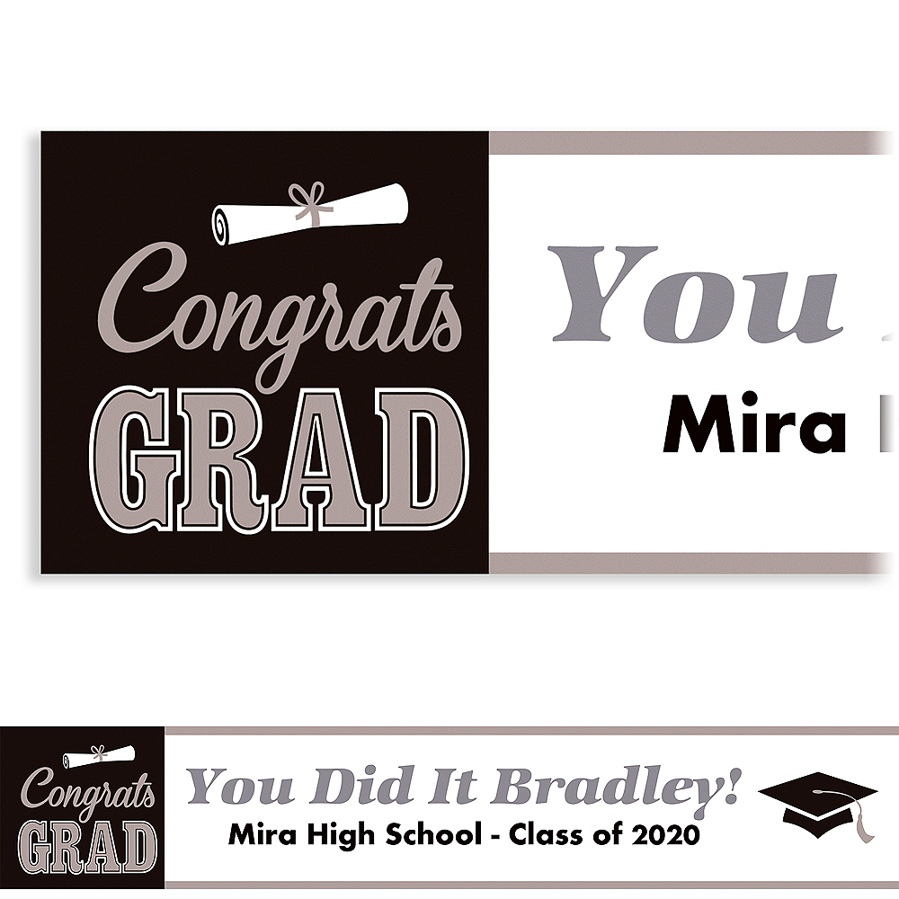 Custom Graduating Class Banner 6ft  Image #1
