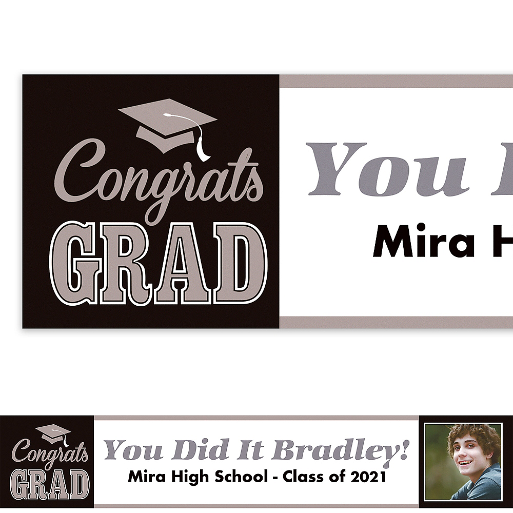 Custom Graduating Class Photo Banner 6ft    Image #1