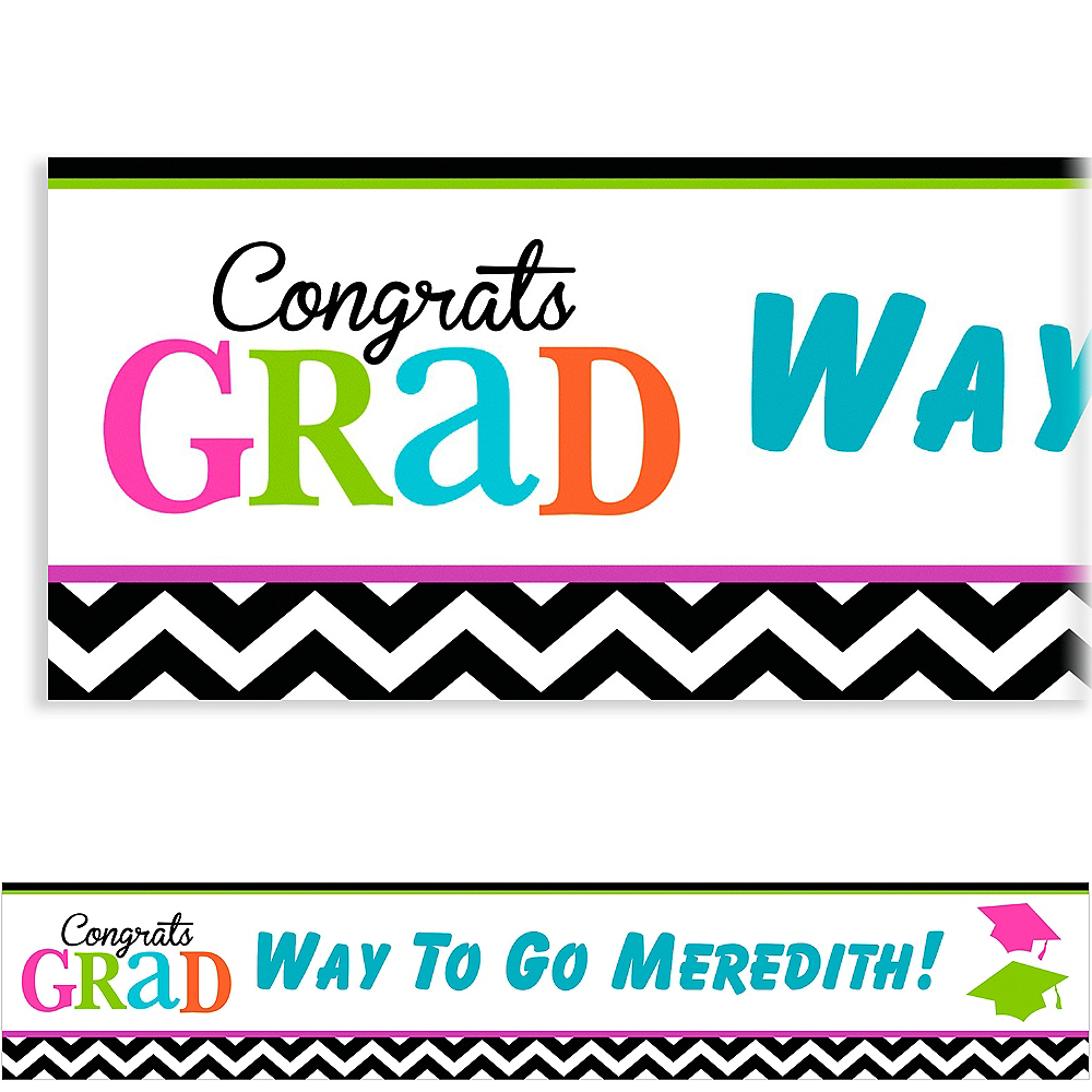 Nav Item for Custom Bright Congrats Grad Banner 6ft    Image #1