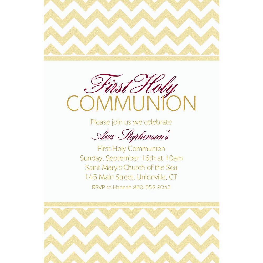 custom vanilla chevron invitations party city