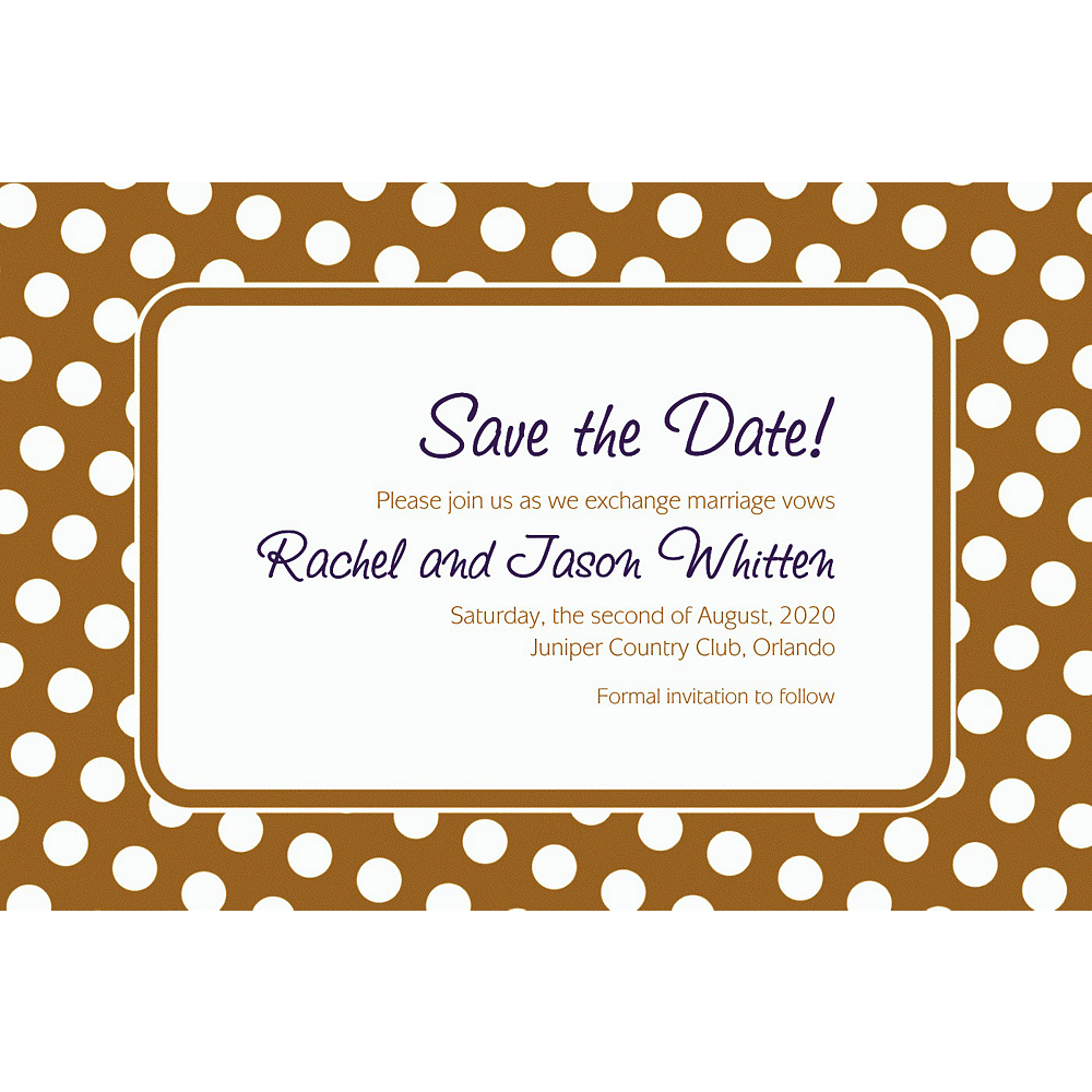 custom gold polka dot invitations party city