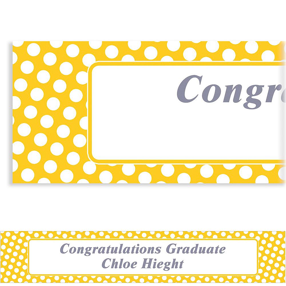 Custom Sunshine Yellow Polka Dot Banner 6ft Image #1