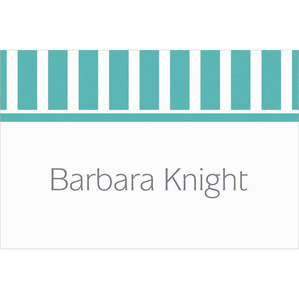 Custom Robin's Egg Blue Stripe Thank You Notes Image #1