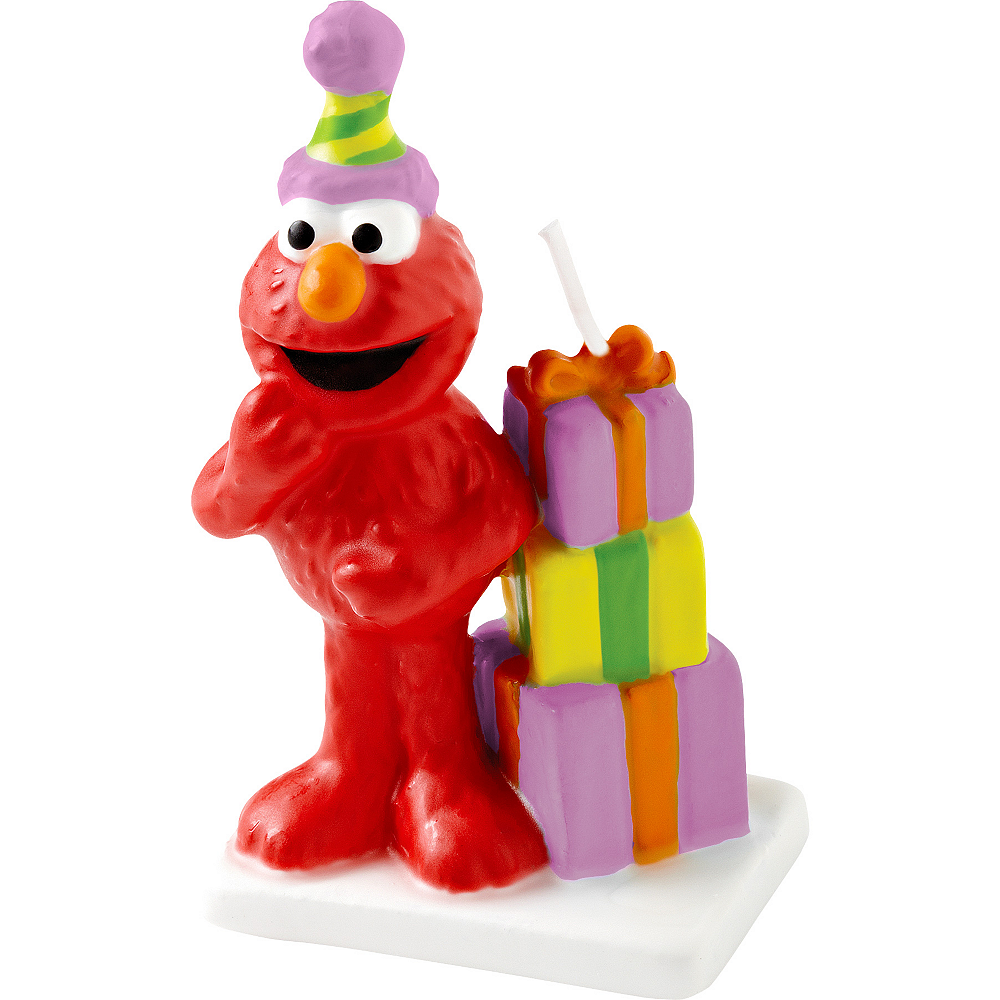 Nav Item for Wilton Elmo Birthday Cake Candle 3in Image #1