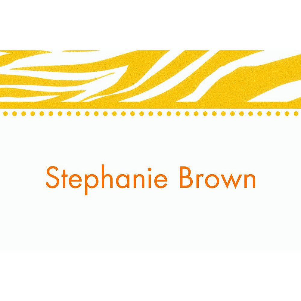 Custom Sunshine Yellow Zebra Thank You Notes Image #1