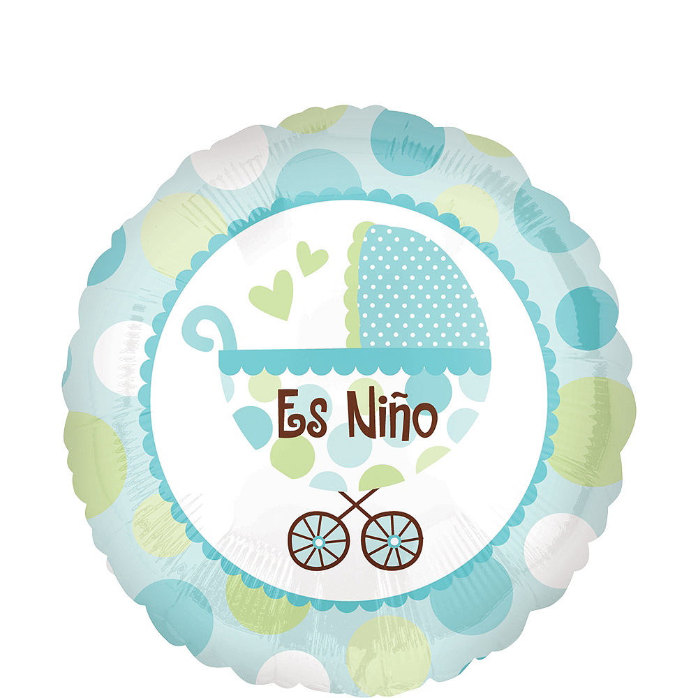 Nav Item for Es Nino Balloon - Baby Buggy, 17in Image #1