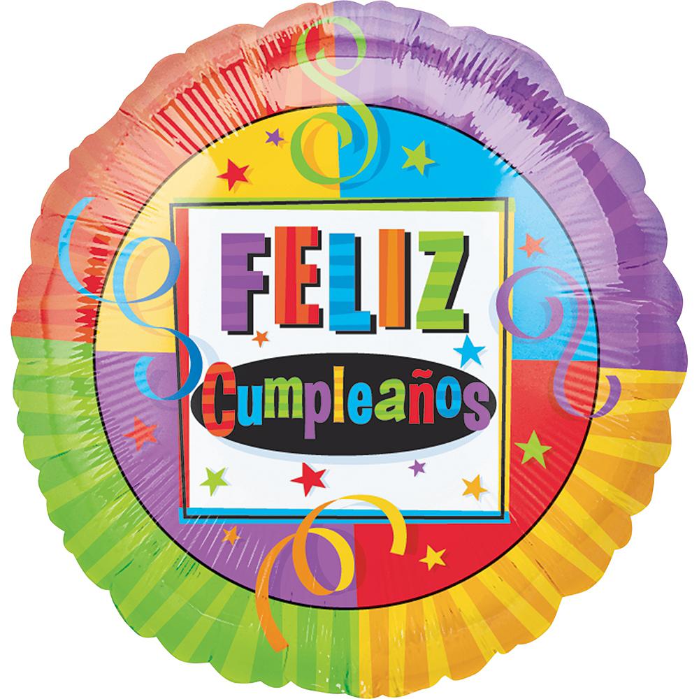 Feliz Cumpleanos Balloon - Bright, 17in Image #1