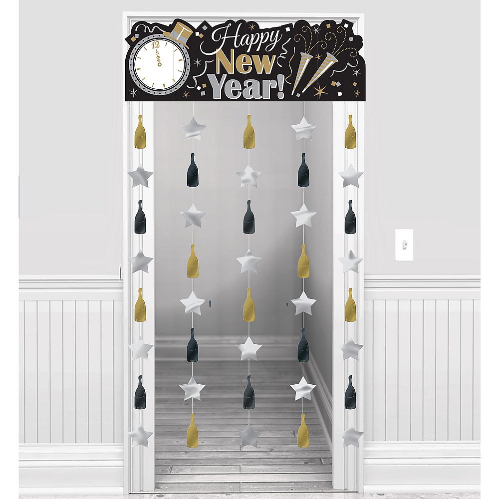 Sparkling New Year's Doorway Curtain Image #1