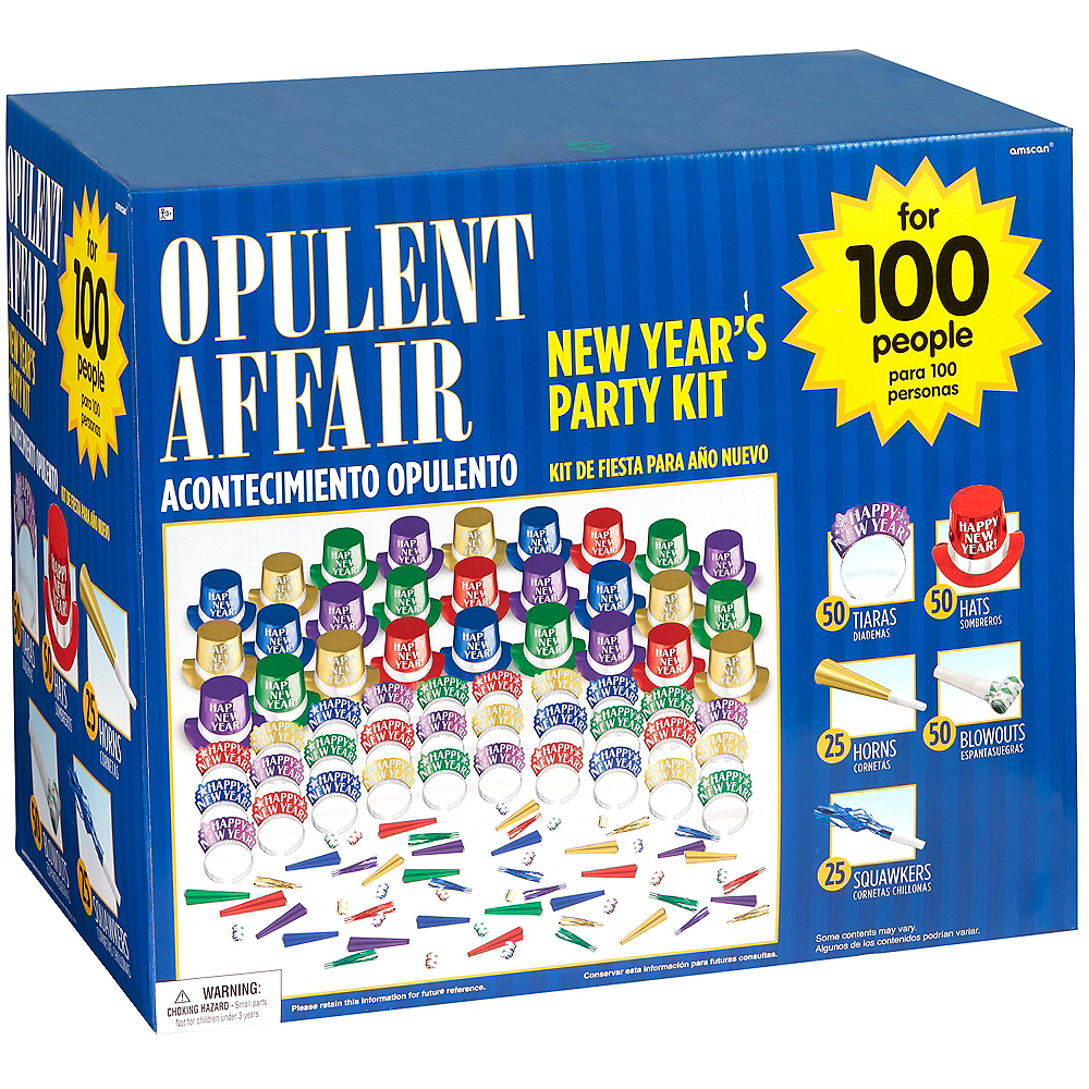 Kit For 100 - Colorful Opulent Affair New Year's Party Kit Image #2