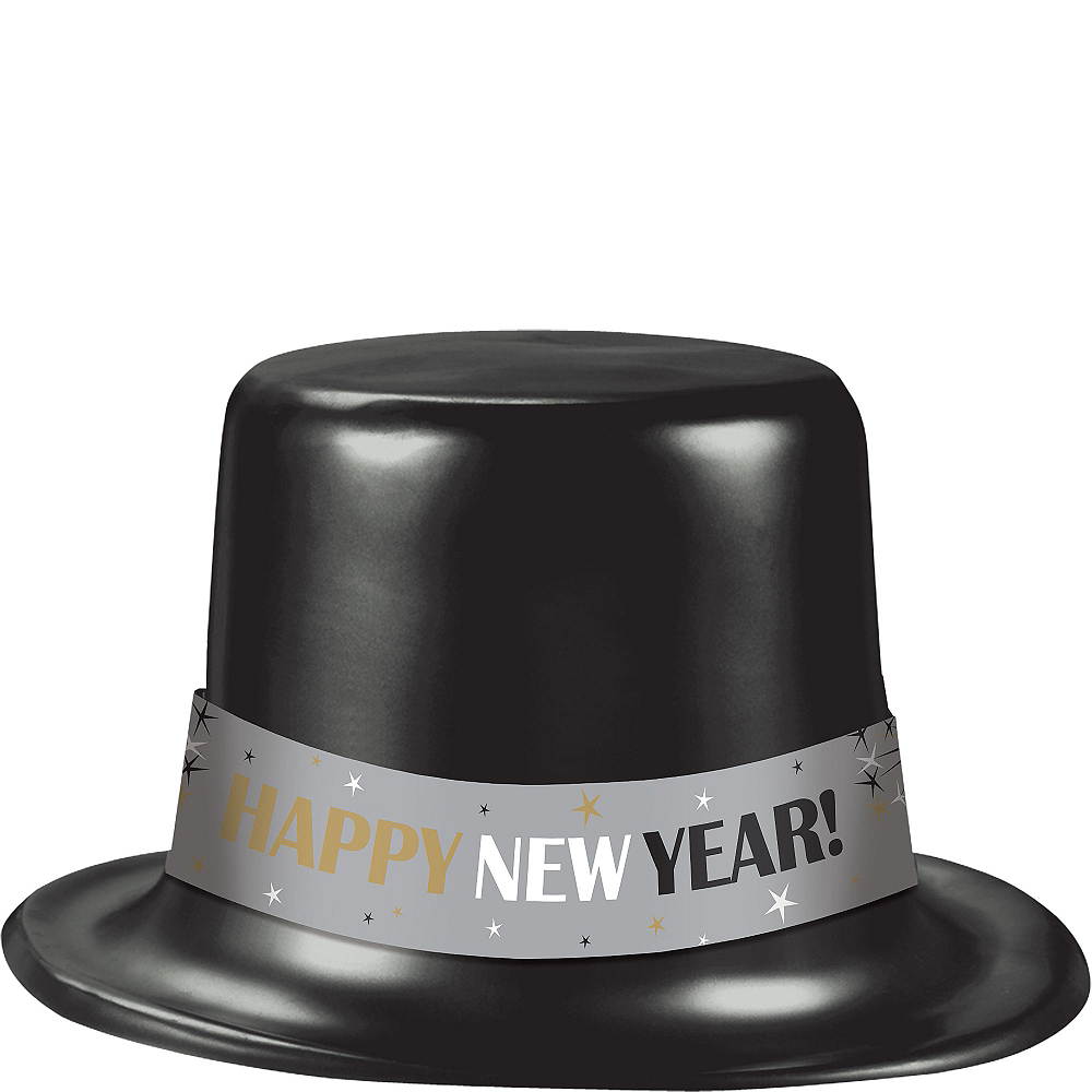 Classic Black New Year's Top Hat Image #1