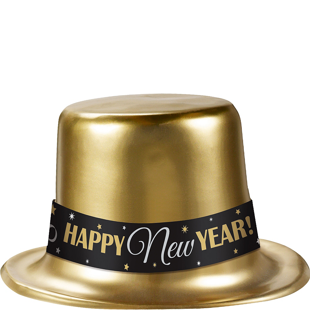 Classic Gold New Year's Top Hat Image #1