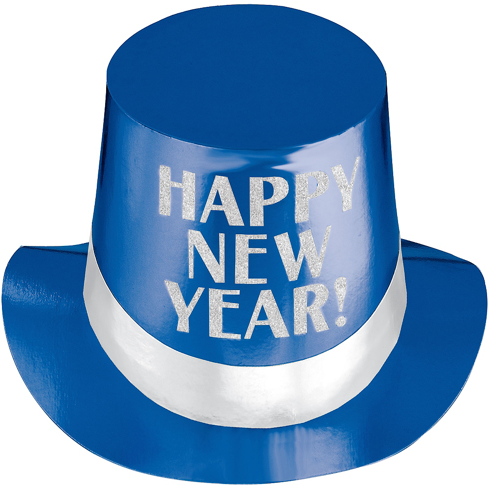 Blue New Year's Top Hat Image #1
