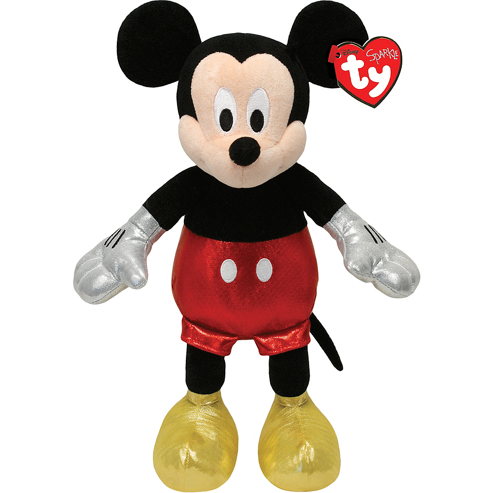 Sparkle Mickey Mouse Beanie Buddies Plush Image #1
