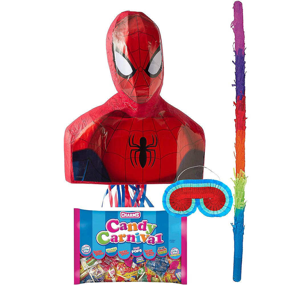 Pull String Spider-Man Pinata Kit Image #1