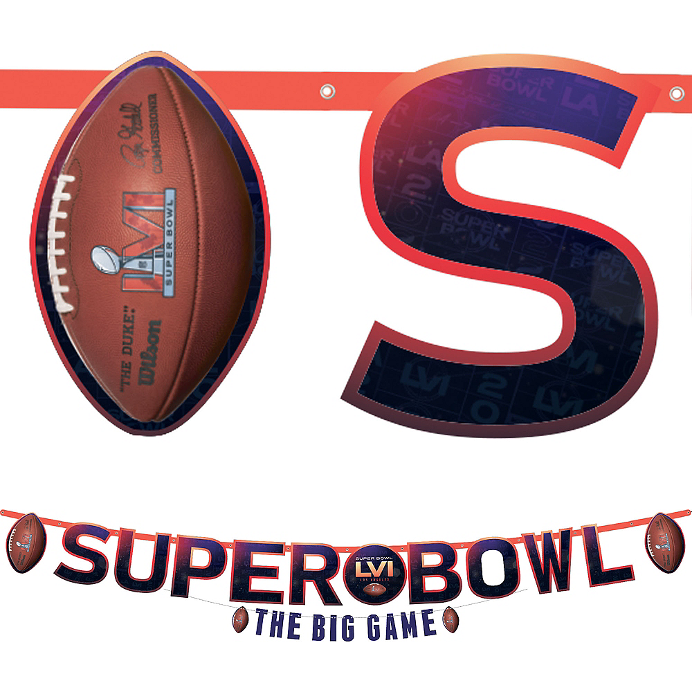 Super Bowl Letter Banners, 2ct Image #1