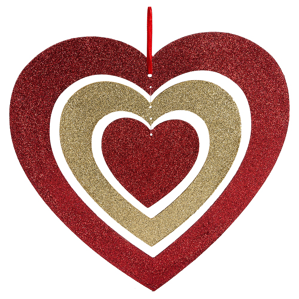 Nav Item for Glitter Spinning Heart Image #1