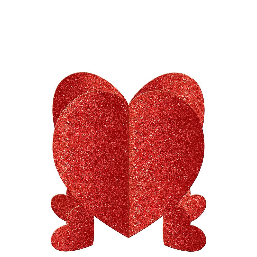 Glitter Heart Centerpieces 3ct Image #1