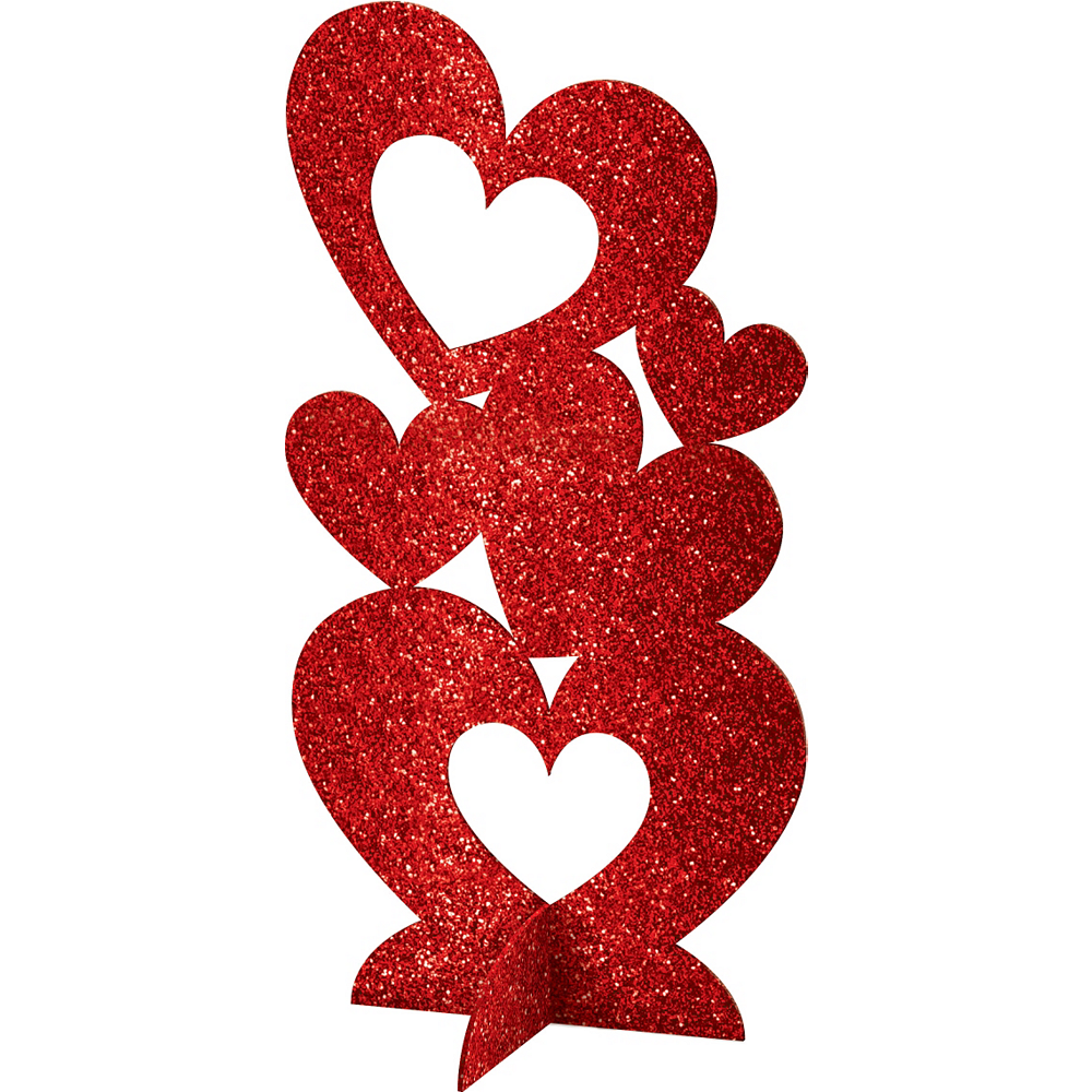 Nav Item for 3D Glitter Heart Centerpiece Image #1