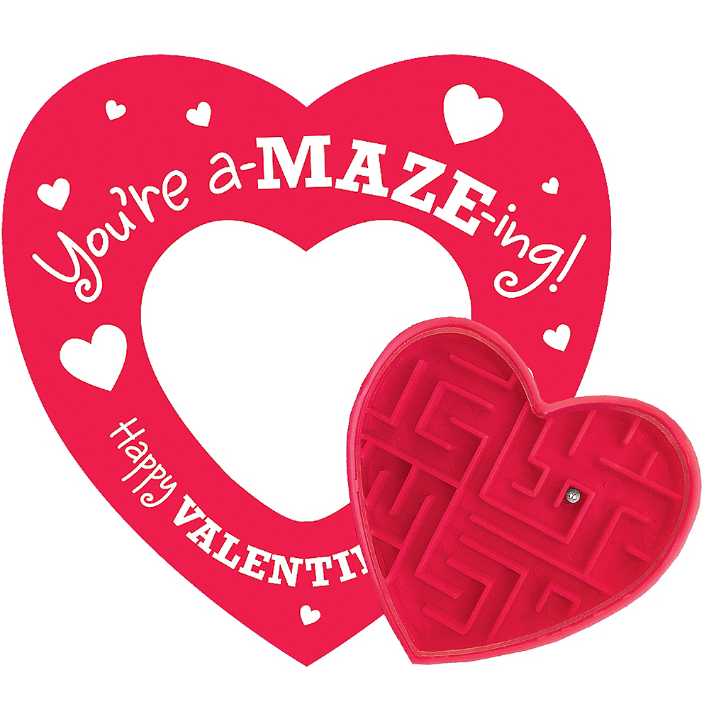 Valentine Cards with Maze Puzzles 12ct Image #1