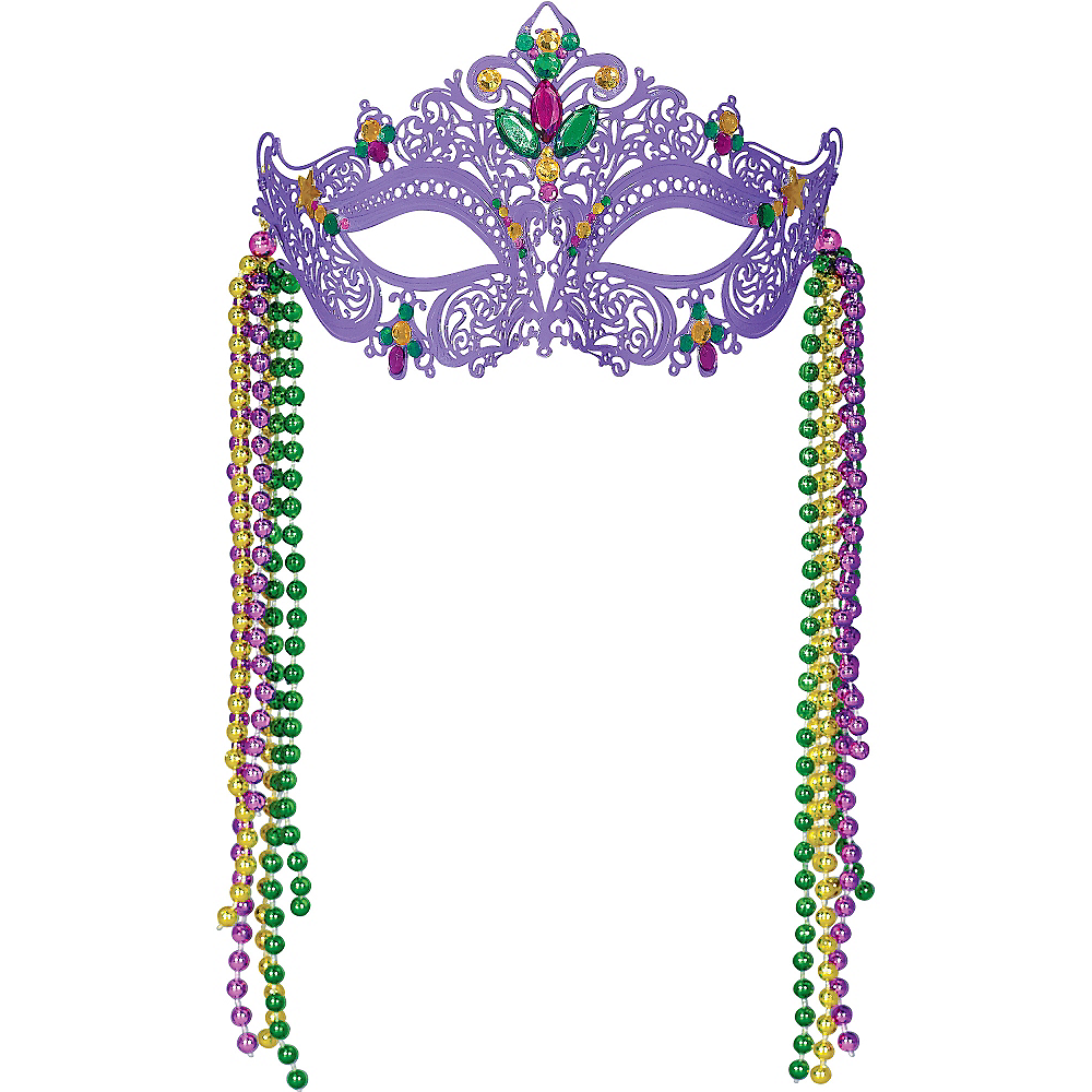 Filigree Mardi Gras Mask Image #1