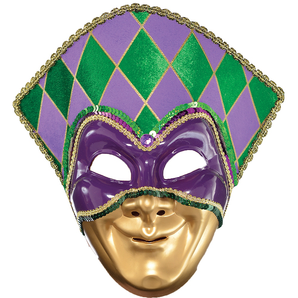Nav Item for Jester Mardi Gras Mask Image #1