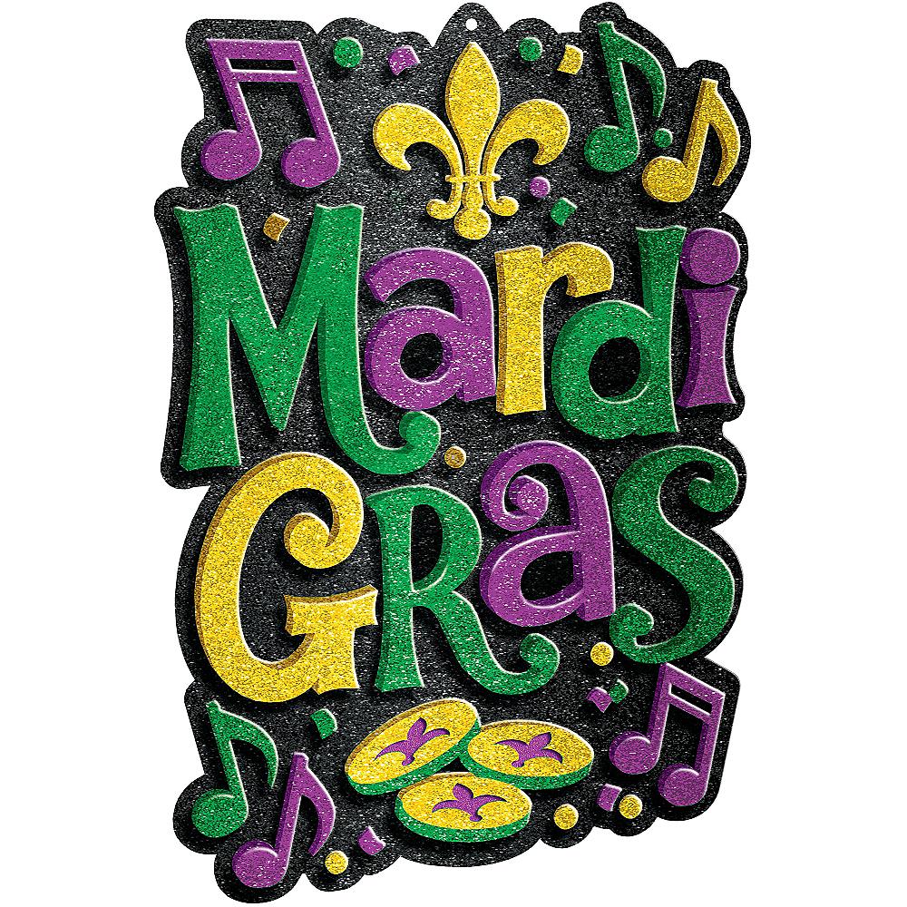 Glitter Mardi Gras Sign Image #1