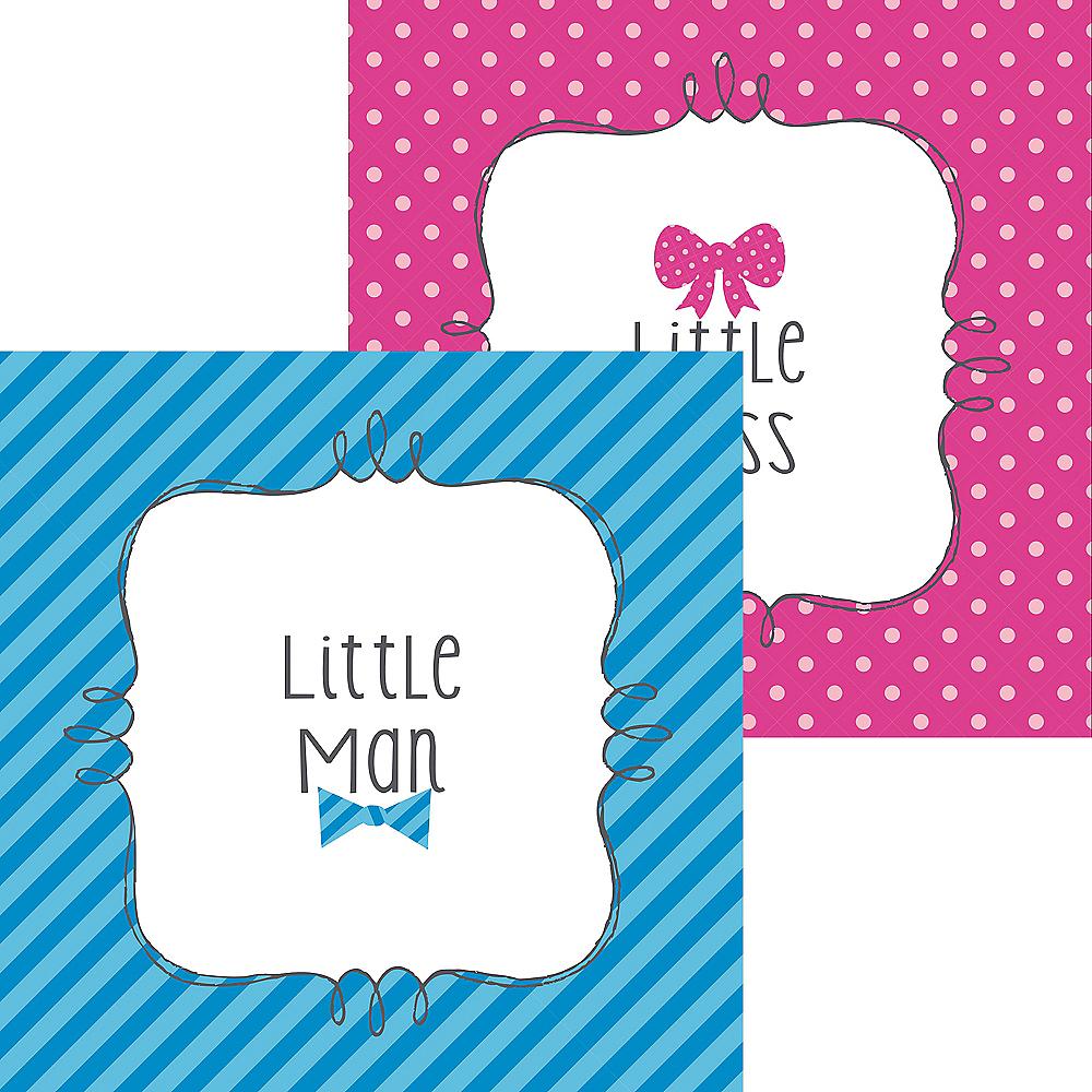 Little Man, Little Miss Gender Reveal Beverage Napkins 16ct Image #1