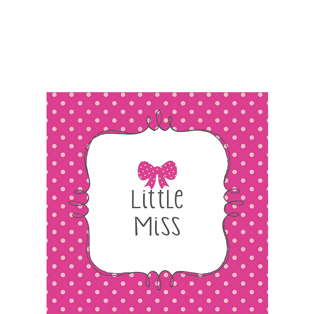 Little Man, Little Miss Gender Reveal Beverage Napkins 16ct Image #2