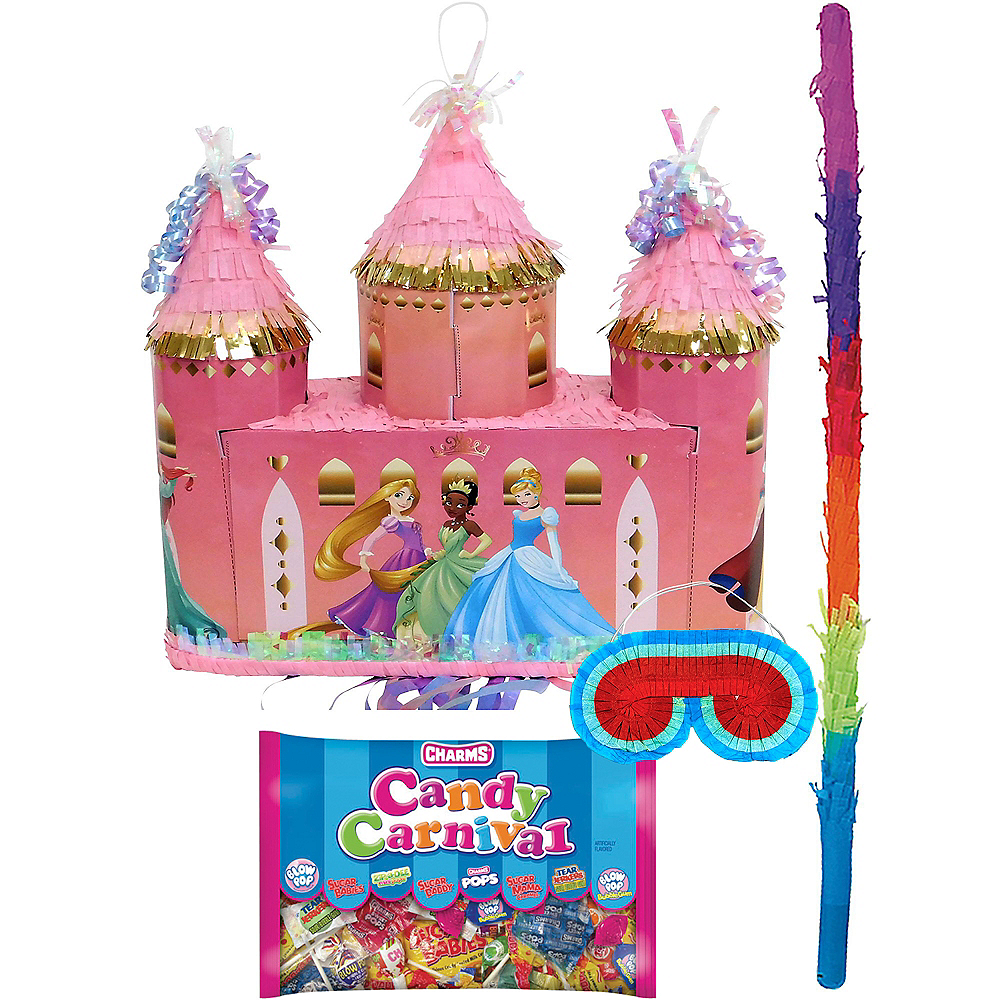 Pull String Disney Princess Castle Pinata Kit Image #1