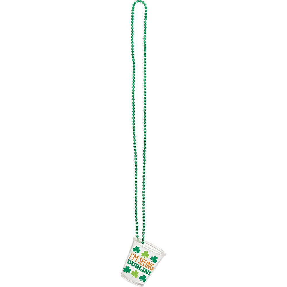 St. Patrick's Day Shot Glass Necklaces 4ct Image #2