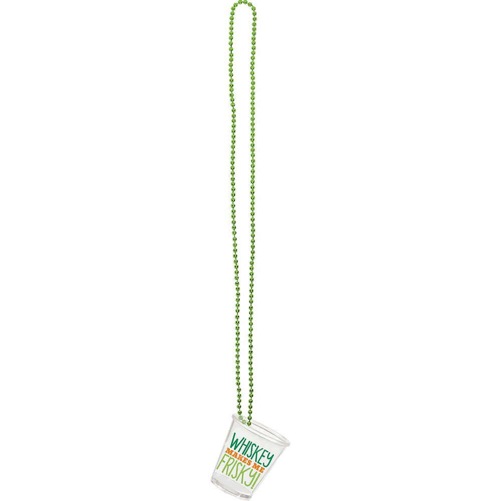 St. Patrick's Day Shot Glass Necklaces 4ct Image #3