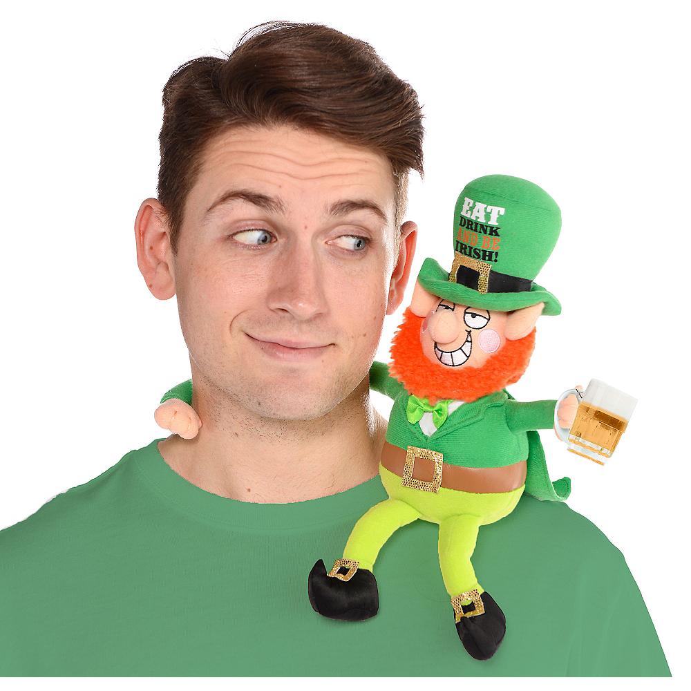 St. Patrick's Day Drinking Buddy Leprechaun Plush Image #1