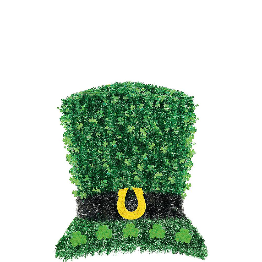 Deluxe Tinsel Leprechaun Hat Decoration Image #1