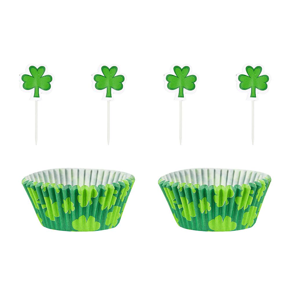 St. Patrick's Day Shamrock Cupcake Decorating Kit Image #1