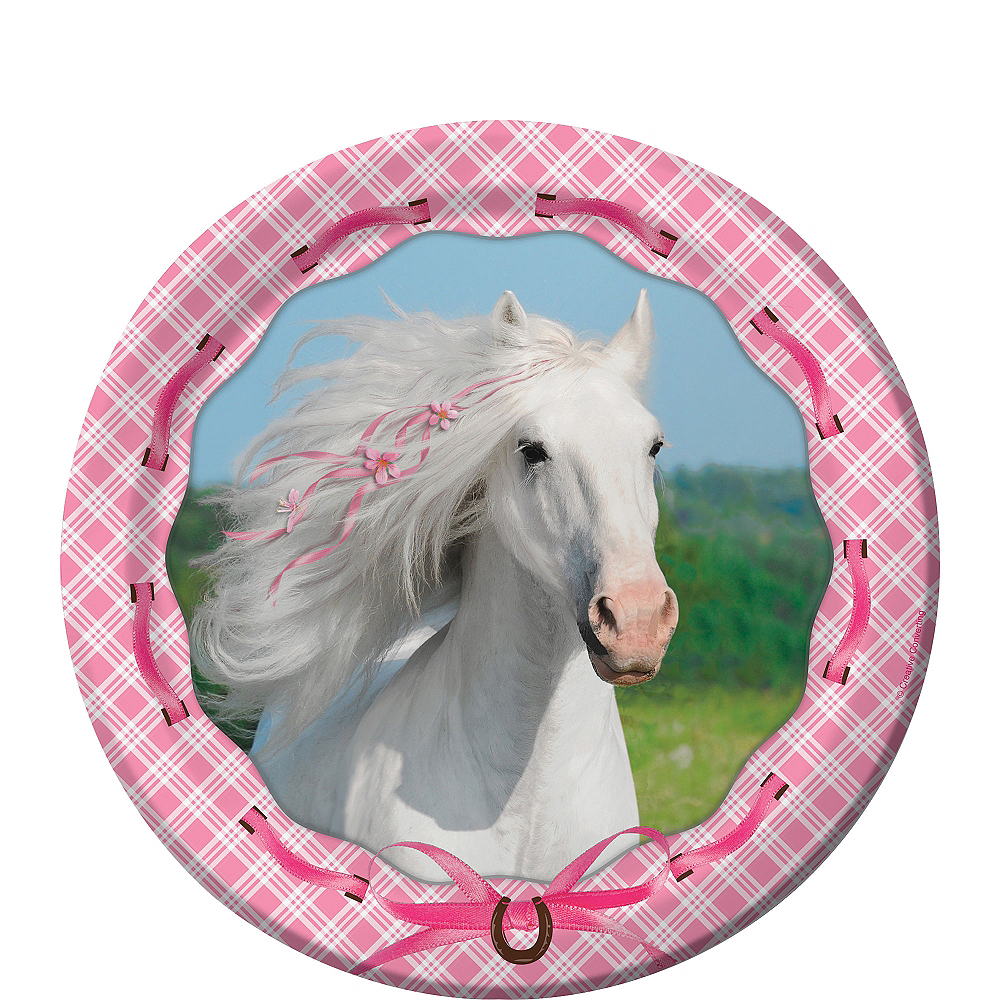 Nav Item for Heart My Horse Dessert Plates 8ct Image #1
