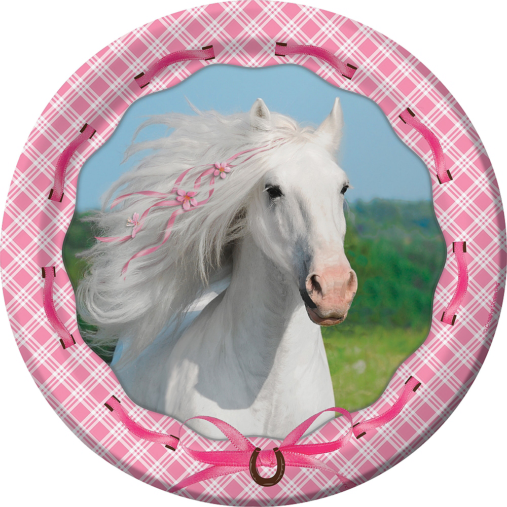 Heart My Horse Lunch Plates 8ct Image #1