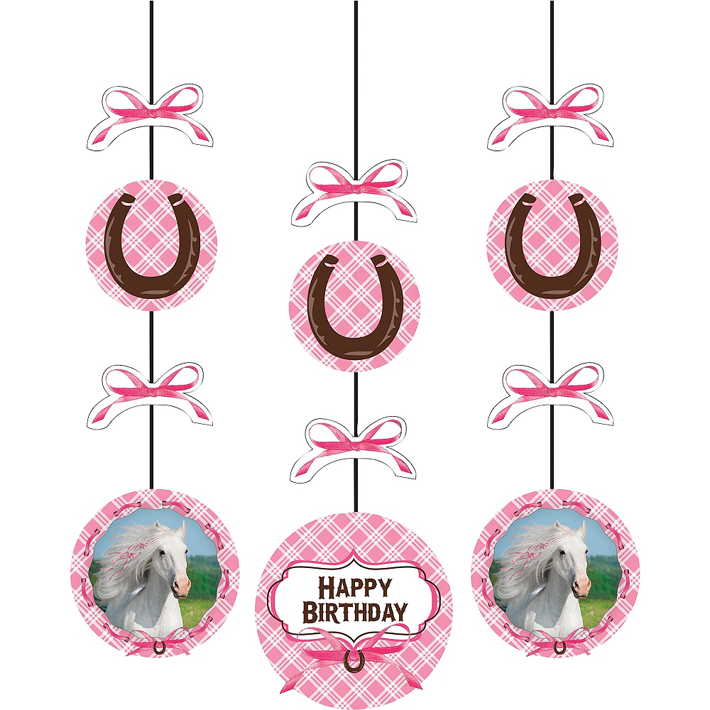 Heart My Horse String Decorations 3ct Image #1