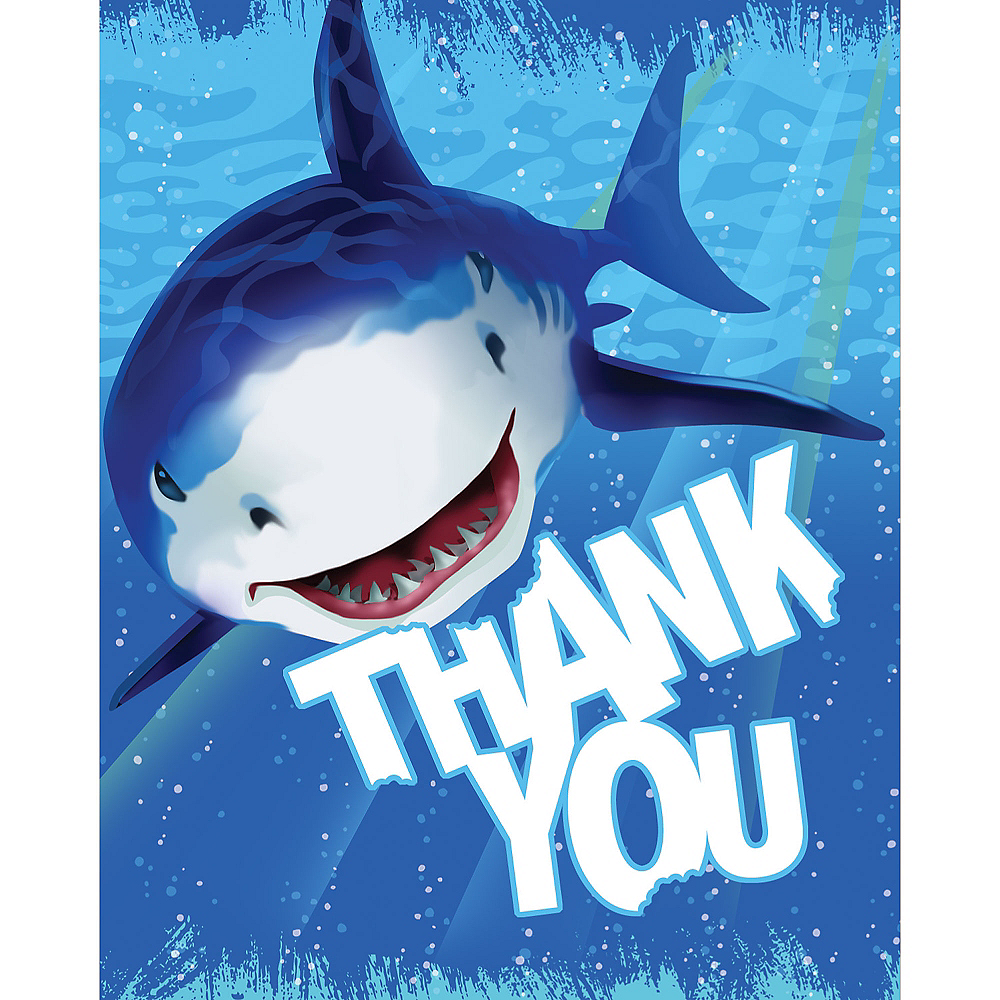 Shark Thank You Notes 8ct Image #1