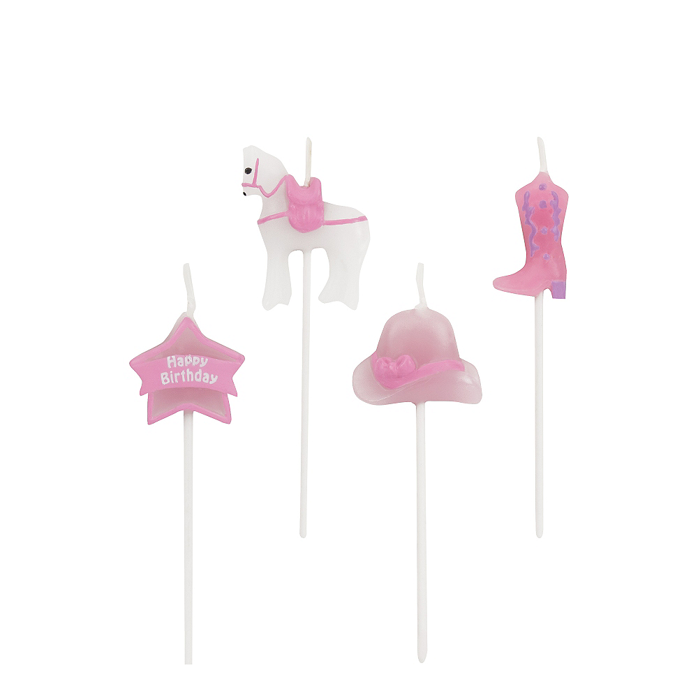 Heart My Horse Birthday Candles 4ct Image #1