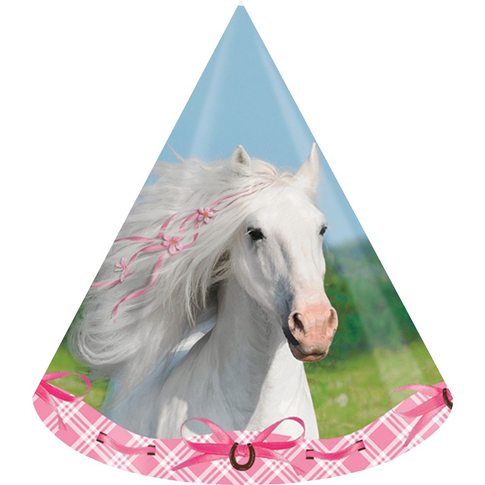 Heart My Horse Party Hats 8ct Image #1