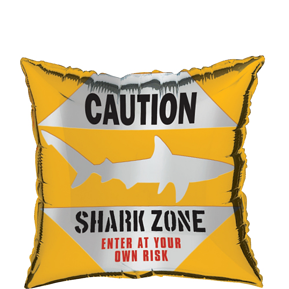 Caution Shark Balloon, 18in Image #1