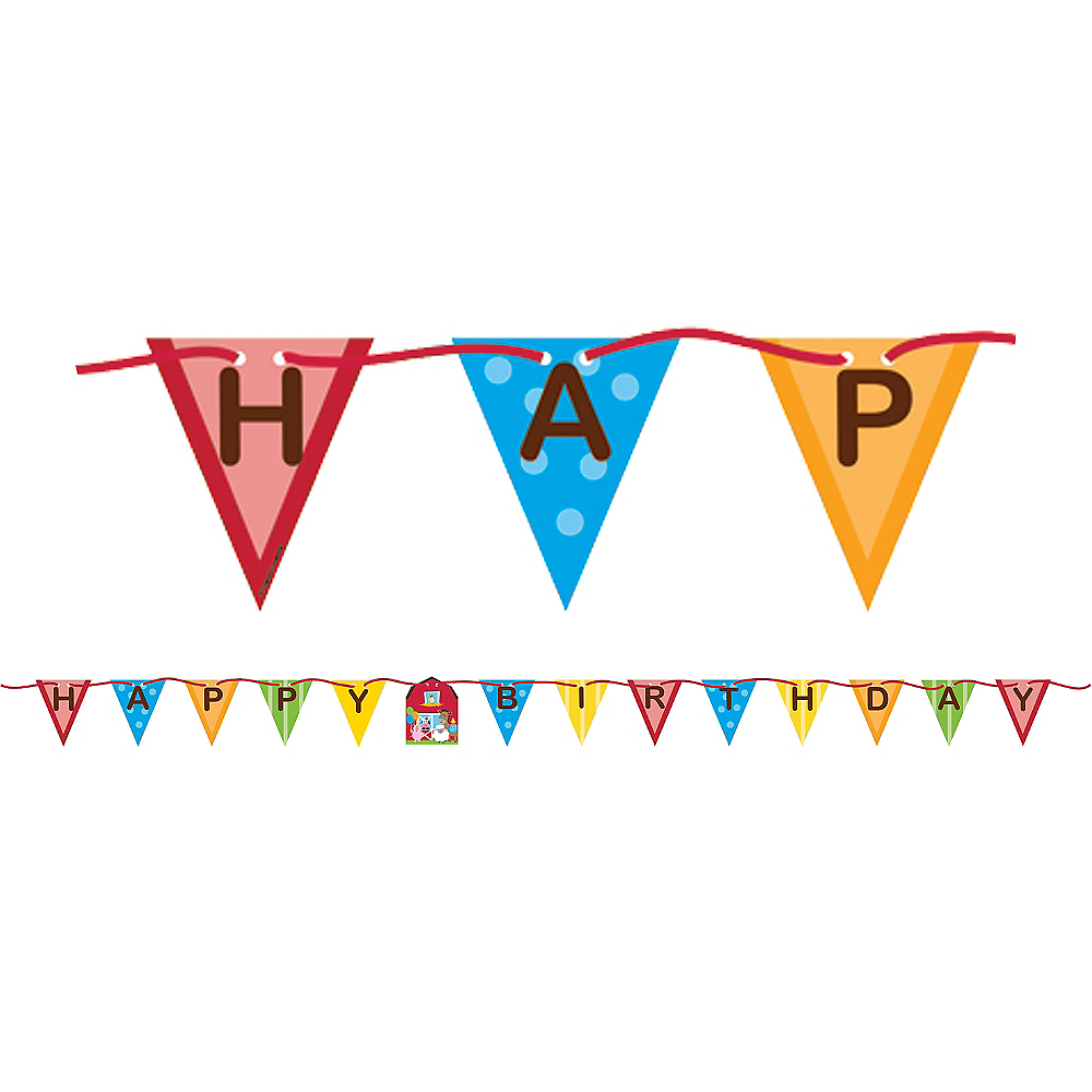 Farmhouse Fun Birthday Banner Image #1